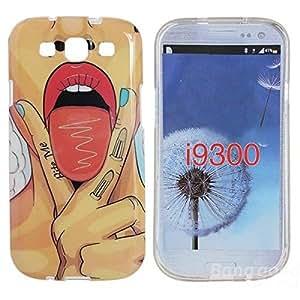 Sut TPU sexy labial caso de la contraportada protectora para Samsung Galaxy S3 i9300