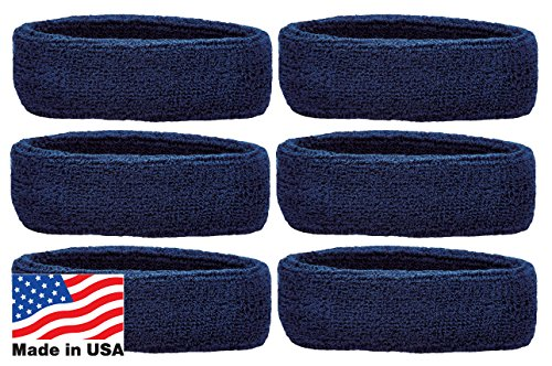 (Unique Sports Headbands Team (6 Pack), Navy, One Size)