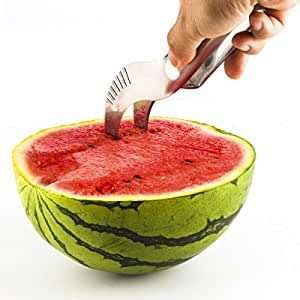 Simple Melon Stainless Steel Watermelon Slicer & Corer - Stay Cool in the Summer with No Mess & No Stress!