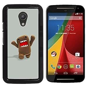 For Motorola MOTO G 2ND GEN II Case , Character Meme Internet Teeth - Diseño Patrón Teléfono Caso Cubierta Case Bumper Duro Protección Case Cover Funda