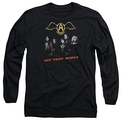 camiseta alas manga tus de Aerosmith larga negra consigue Hombre RgInBwqxz