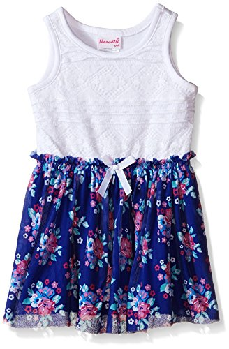 s Lace Bodice With Floral Chiffon Skirt, Blue, 6 (Bodice Chiffon Skirt)