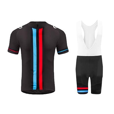7455039b36a8 Uglyfrog Tuta Ciclismo Uomo Maniche Corte Maglie Ciclismo+Salopette Ciclismo  Completo Ciclismo Squadra Professionale per