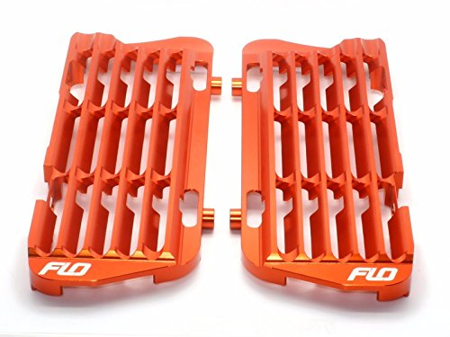 Ktm Radiator Guards (Flo Motorsports Orange Radiator Guard/brace/shrouds Ktm/husqvarna/husaberg)