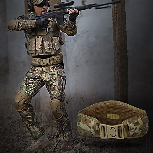 IDOGEAR Tactical Belt Padded Patrol Molle Battle Belt 1000D High Density Nylon Padded Combat Waist Belts Airsoft Hunting Shooting Outdoor Gear MultiCam by IDOGEAR (Image #5)