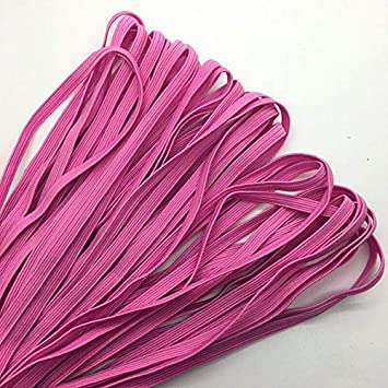 """5yds 1//4/"""" 6mm Brown Thickening Satin Elastic Band Trim Sewing Spandex Lace"""