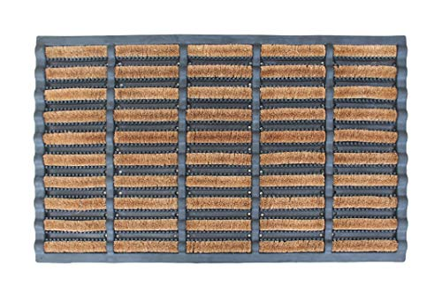 A1 Home Collections A1HC Rubber Brush Mat I Functional Boot Scrapper I Decorative Large Coir Entryway Doormat, 23.6