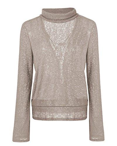 Chandail Longues Haut Fashion Jumper T et Col Tricots Kaki Bandage Tops Manches Sweater Dos Roul Printemps Pulls Femmes Automne Pullover Shirt Nu qSISz
