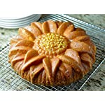 Marathon Housewares Premium Silicone Sunflower Cake Pan 8 PREMIUM QUALITY- HTV (High temperature vulcanization) and FDA approved silicone. EASY STORAGE- Flexible and retains original shape. Fold or roll for convenient storage. EASY TO USE- Effortless baking and cleaning. Easy release non-stick gourmet silicone bakeware.