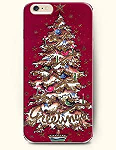 For Ipod Touch 5 Case Cover case - Merry Xmas Christmas Greeting Xmas Tree In Voilet Red Background