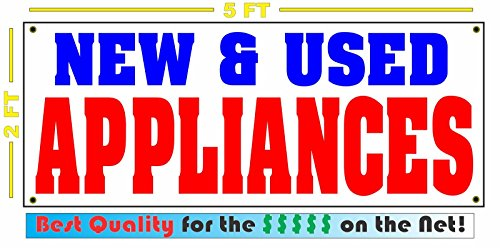 NEW & USED APPLIANCES All Weather Full Color Banner Sign - All Weather Appliance