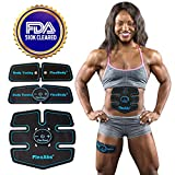 Abs Stimulator Muscle Toner - FDA Cleared | Rechargeable Wireless EMS Massager for Weight Loss | The Ultimate Electronic Power Abs Trainer for Men Women & Bodybuilders | Abdominal, Arm & Leg Training