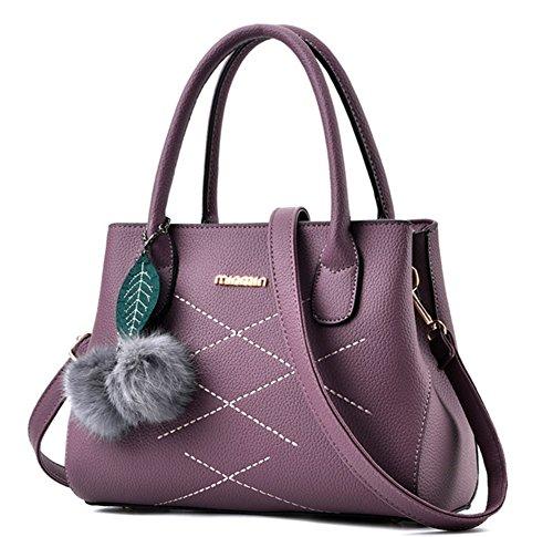 BAO Bolsos de hombro de mujer Bolsos cruzados Body Bags Multicolor Linge PU, pink purple