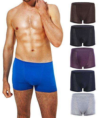 Men's Boxer Brief UnderWear Trunk Cotton Sexy Tagless Athletic No Fly Soft Briefs 6 Pack XL