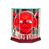 MLS Octagon Soccer Ball Glass Display Case, Cherry