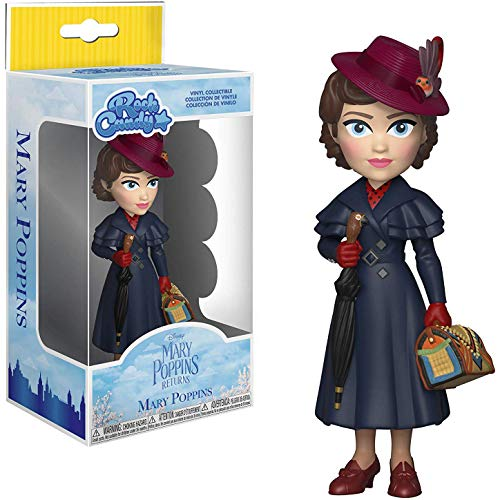 Funko Mary Poppins: Mary Poppins x Rock Candy Vinyl Figure + 1 Classic Disney Trading Card Bundle [33913] -
