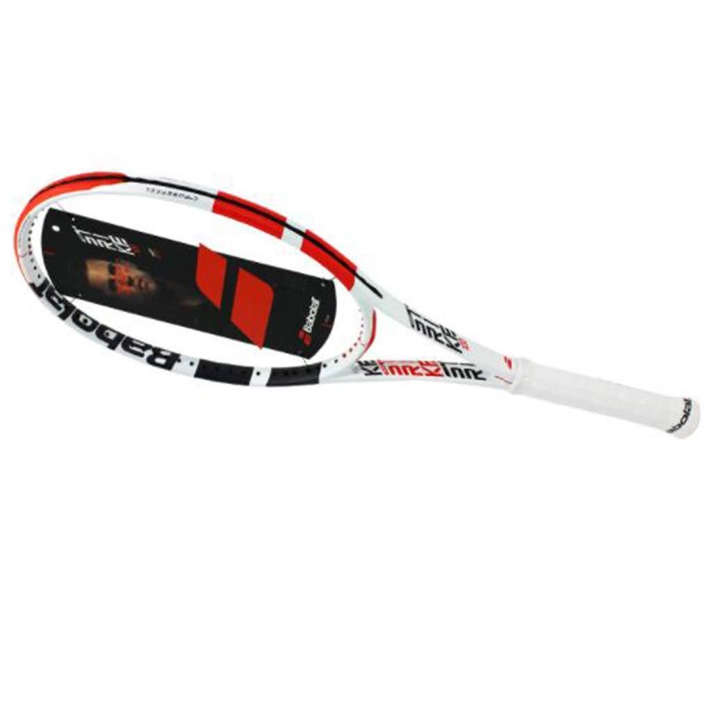 ジュニアテニスラケット テニスラケット/男性と女性のプロフェッショナルカーボンテニスラケット/テニスラケット大人/テニスラケットキッズ/ユニバーサルシングルスーツ 硬式テニス (Color : 白い-a, Size : 69cm/27 inches) 白い-a 69cm/27 inches
