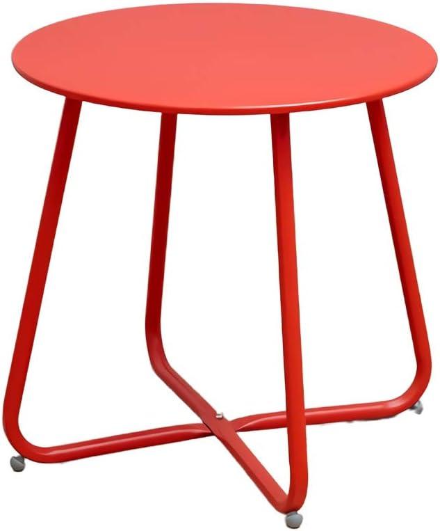 Groothandel Kwaliteit CAIM Macaron Bijzettafeltje, eenvoudige moderne salontafel, sofa-hoeken, een paar creatieve bijzettafeltjes, zijkast, bijzettafeltje Garnet Red Orn6UdJ