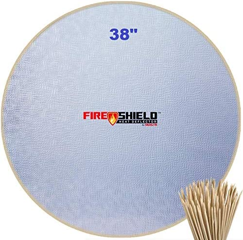 Tevigo Fireproof Mat 38 Inches Fire Pit Mat Round Under Grill Splatter Matfire Pit High Temp