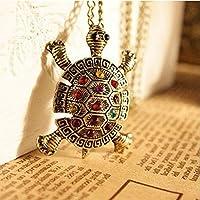 ERAWAN Charm Retro personality lovely Bohemia Turtle Pendant Necklace Chain Jewelry EW sakcharn