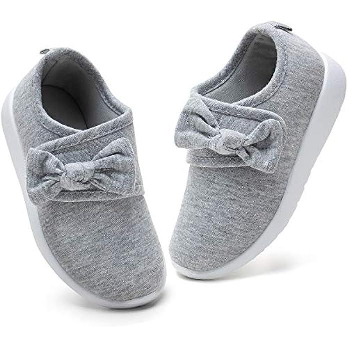 nerteo Toddler Girl Shoes Lightweight Slip On Sneakers for Kids