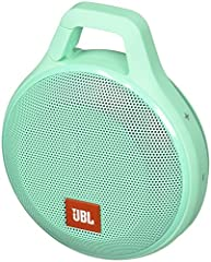 Clip and play. Take your music further. The JBL clip+ is an ultra-light, ultra-rugged and ultra-powerful portable speaker. This Splashproof upgrade to the JBL clip+ provides 5 hours of playtime, so you can take your music wherever you go, ove...
