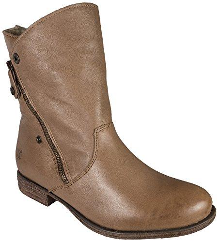 Post Xchange Lena 25 Damen Stiefelette/Stiefel Leder Taupe - (fällt eine Nummer größer aus)