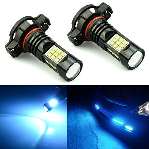 JDM ASTAR 2400 Lumens Extremely Bright PX Chips 5202 5201 LED Fog Light Bulbs for DRL or Fog Lights, Ice - Fog Hd Bulb Light