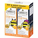 Zarbee's Naturals Children's Cough Syrup with Dark Honey Daytime & Nighttime, Natural Grape Flavor, 4 Ounce Bottles (Value Pack of 2)
