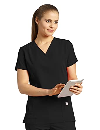 262c879468d Marvella by White Cross Women's Shaped V-Neck Solid Scrub Top with Pockets  Xx-