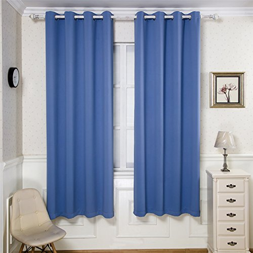 BGment Room Darkening Thermal Insulated Blackout Curtains for Living Room, Metal Grommets Top,1 Panel(42