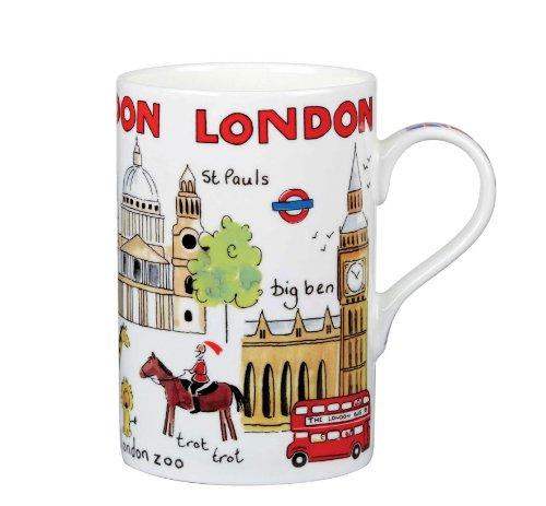 James Sadler London Weekend Cedar Mug, Fine Bone China
