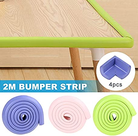 Fanville 2M Corner Cushion Protector Edge Guard to Child Proof Furniture Baby Safety Corner Protector Children Protection Furniture Corners Angle Protection Kids Safety Table Corner Tape