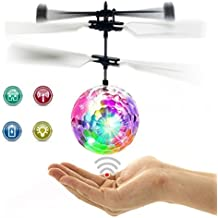 RC Flying Ball, Fansidi Newest Helicopter Ball - Infrared Induction Flying Toys with Colorful LED Shinning Lights - RC Toys for Kids, Teens, Best Gifts Choices for Girls and Boys Toys