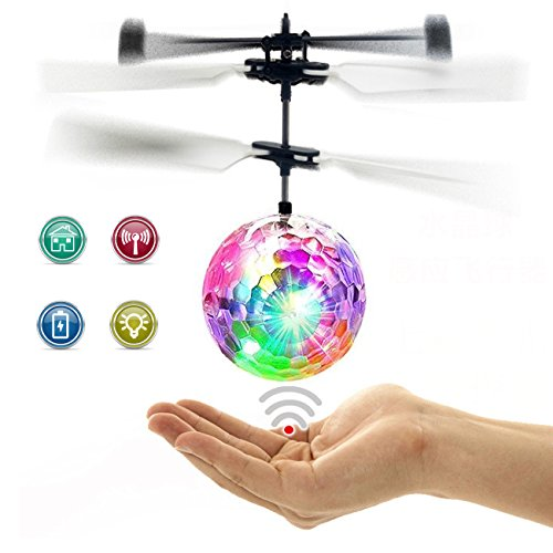 RC Flying Ball, Fansidi Newest Helicopter Ball - Infrared Induction Flying Toys with Colorful LED Shinning Lights - RC Toys for Kids, Teens, Best Gifts Choices for Girls and Boys Toys (Best Toy For 12 Year Old Boy)