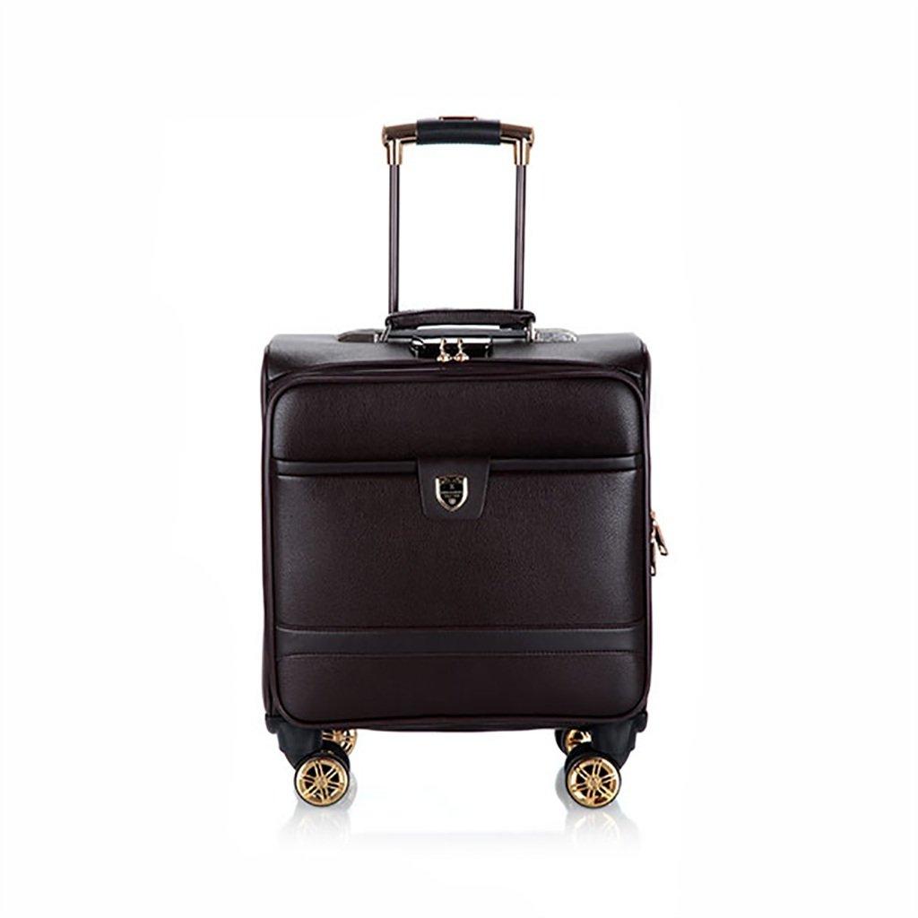 スーツケース トロリーケース4ホイールユニバーサルホイール出張旅行屋外トロリーバッグ大容量ライトトラベルバッグトラベルバッグドラッグバッグハンドバッグトランク旅客ボックス (色 : Brown)   B07FTDSKW6