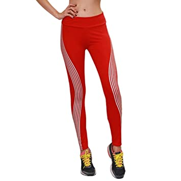 ZHRUI Pantalones Moda para Mujer Neón Rainbow Leggings ...