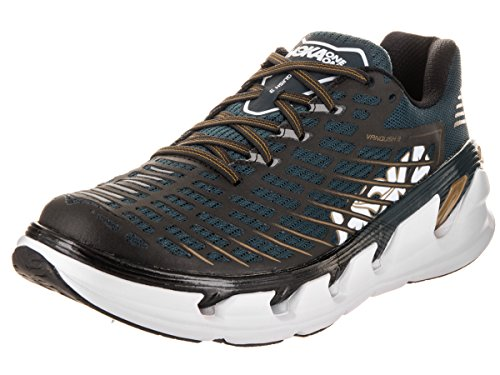 Hoka One One Mens Vanquish 3 Neutral Shoe (10.5, Blu Notte / Oro)