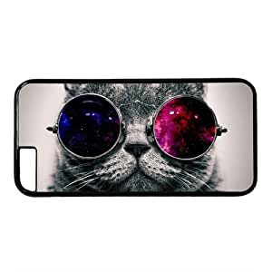 Hisper Cat With Galaxy Sunglasses Theme Hard Back Cover Case For Iphone 6 plusinch)