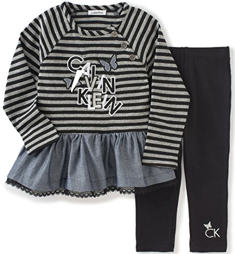 ee8e1b27e28 Calvin Klein Baby Girls' Chambray 2 Piece Tunic/Leggings Set ...