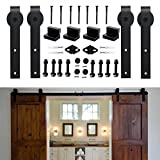 KIRIN 12 Feet Double Doors Hardware Set Sliding Barn Door Simple Style Flat Shape For Wood Door