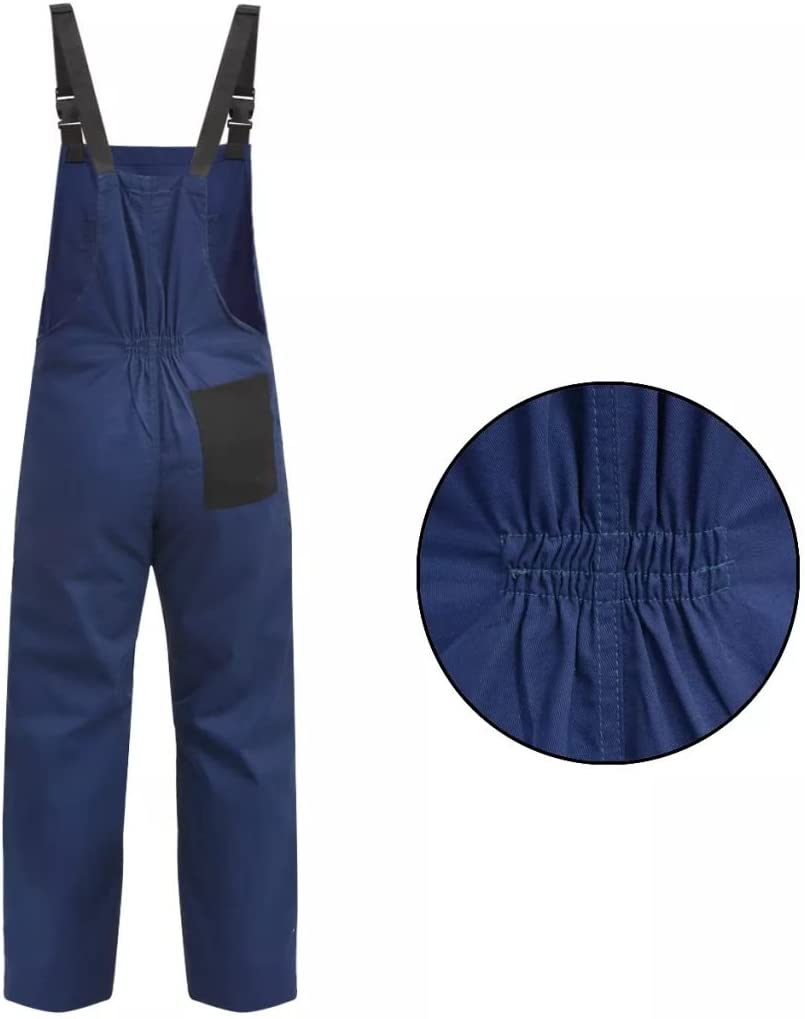 vidaXL Mens Bib Overalls Heavy Duty Working Trousers Dungarees Size XXL Blue