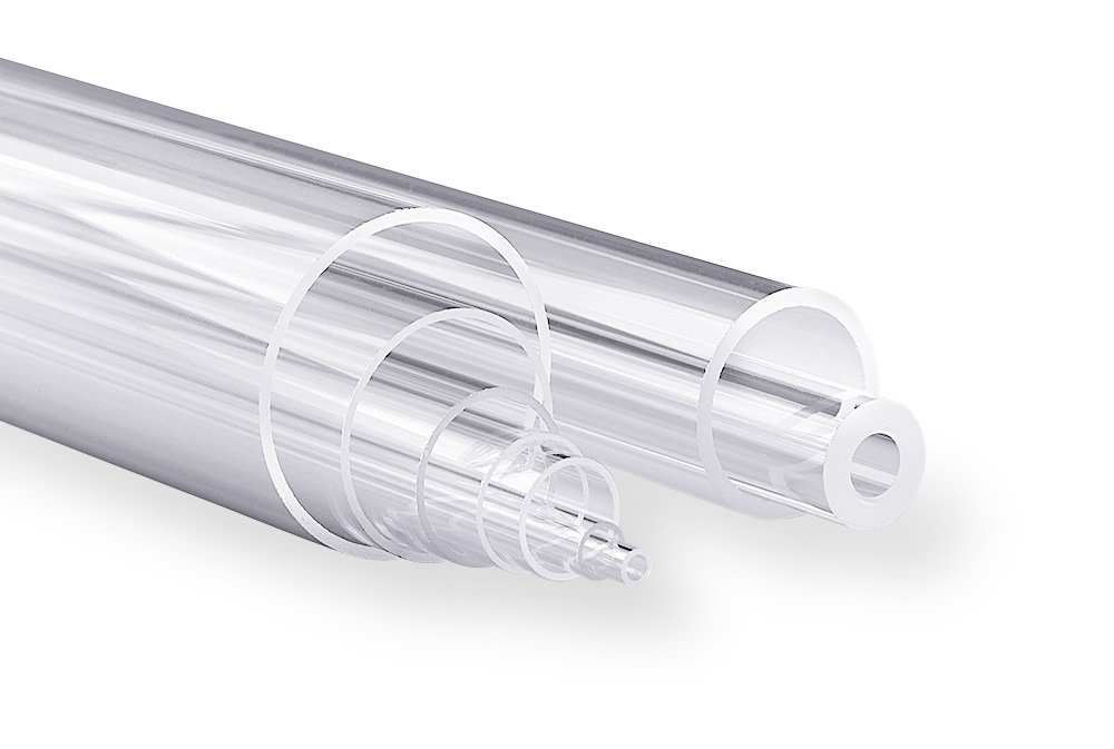 42 mm Inner Diameter x 45 mm Outer Diameter Technical Glass Products 1029OQL1MNF Fused Quartz Tubing 48 Length