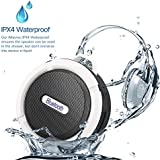 Portable Bluetooth Speakers, Wireless Waterproof Speakers, Mini Bluetooth Speaker with Super Bass, Support Micro SD/TF Card/USB Flash, Blult-in Micophone Outdoor Home Wireless Speaker for iPhone