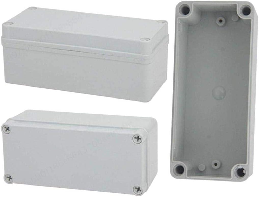 Blanc TINGB Bo/îtier en Plastique Blanc avec connecteur ext/érieur 80 * 110 * 70 bo/îtier de jonction Externe avec bo/îtier en ABS IP65