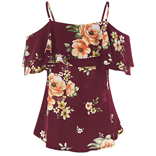 [해외]wodceeke 여성 꽃 인쇄 캐 미 솔 오프 숄더 셔츠 민소매 조끼 탱크 탑 블라우스 / wodceeke Women Floral Printing Camisole Off Shoulder Shirt Sleeveless Vest Tank Tops Blouse