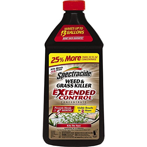 Spectracide Weed & Grass Killer With Extended Control Concentrate, 40-Ounce (Best Weed Spray For Flower Beds)