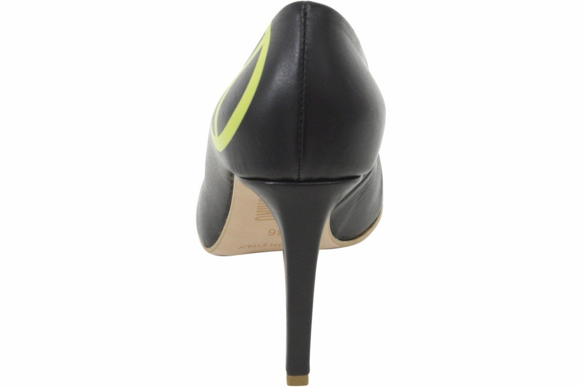 Love Moschino Women's Black Leather Stiletto Heels Shoes Sz: 6 by Love Moschino (Image #3)