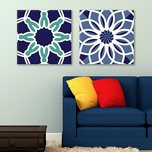 2 Panel Square Abstract Floral Pattern Patterns Gallery x 2 Panels
