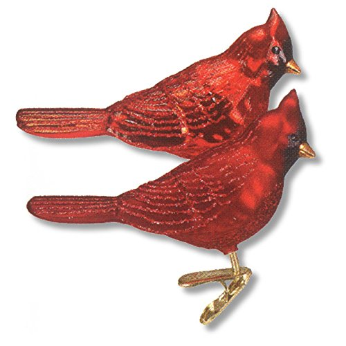 Old World Christmas Ornaments: Northern Cardinal Glass Blown Ornaments for Christmas ()